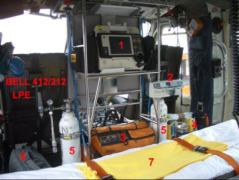 Medicinska oprema v helikopterju